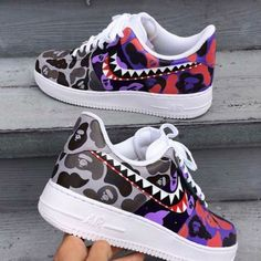 Behind The Scenes By sean_flores Air Force One, Nike Shoes Air Force, Custom Sneakers, Custom Shoes, Bape Shoes, Sneakers Fashion, Sneakers Nike, Sneakers Women, Shoes Women