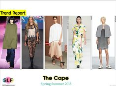The Cape Trend for Spring Summer 2015. Marc Jacobs, Anna Sui, Derek Lam 10 Crosby, Marni, and M.Patmos #Spring2015 #SS15