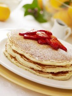 Lemon Ricotta Pancakes - just tried this for the first time at Cheesecake Factory and they were scrumptious!  Glad to find the recipe online.