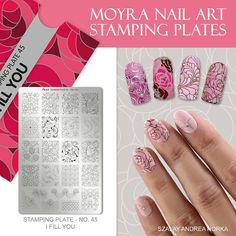 Nail Art Stamping Plates, Flower Nails, Nail Designs, Nail Polish, Make Up, Nailart, Manicures, Fill, Nail Art