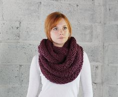 Extra Thick Wool Cozy Cowl in Fig  Ready to Ship by mbgdesigns, $75.00
