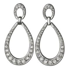Pilgrim Pure Relaxation Earrings, Silver Plated & Crystal