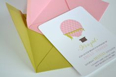 Hot Air Balloon Invitations  Choose Your by simplicitypapers, $27.00