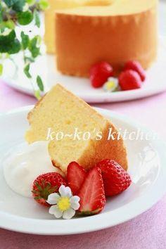 私のバニラシフォンケーキ by ko~ko [クックパッド] 簡単おいしいみんなのレシピが137万品