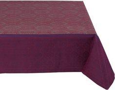 Amazon.com: Mahogany New Medallion 60-Inch by 120-Inch Silver/Fuchsia Tablecloth, Cotton Jacquard: Home & Kitchen