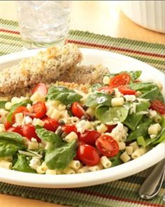 spinach and tomato pasta salad