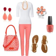 Coral Fun, created by kristenmycoveredbridge on Polyvore
