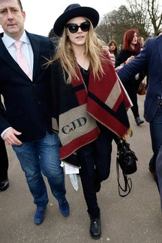 The chic It girls who have proved that the Burberry monogrammed cape is THE jacket of fall