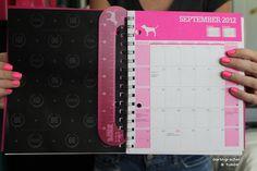 vs pink planner. ♡