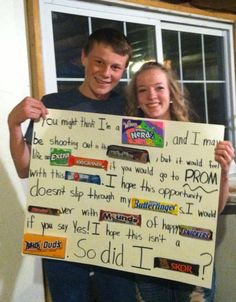 This is how my friend got asked to prom! @Shania Anderson so cute!