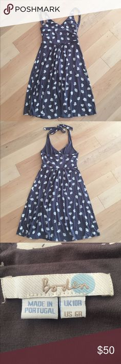 Boden Halter Dress Smoky Gray size 6R Perfect summer day dress. Last photo is included for style and fit reference. Boden Dresses Midi