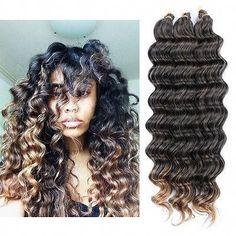 Crochet Bulk Hair Weft Deep Wave Synthetic Hair Extension Crochet Braids - All About Hair Box Braids Hairstyles, My Hairstyle, Black Hairstyles, Oscar Hairstyles, Female Hairstyles, Elegant Hairstyles, Hairstyles Haircuts, Pretty Hairstyles, Curly Crochet Hair Styles
