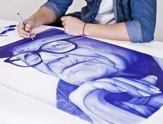 Proyecto de retratos a bolígrafo Bic