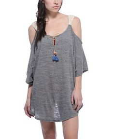 Lucky Brand 'Pure Spirit' Crochet Cover Up Tunic