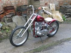 1950 triumph 6t bobber cool looking ride