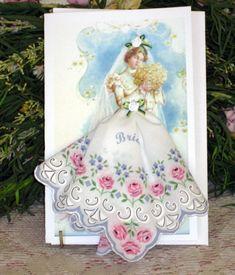 hankie cards | Bride Keepsake Hanky Card