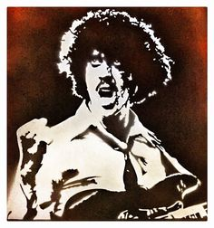 Phil Lynott - cut out stencil A2