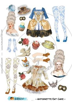 Digital collage sheet doll - Digital paper: printable paper doll for your…