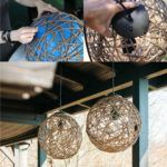 """MATERIALS inflatable rubber ball 12"""" to 16"""" in diameter 16 oz. container of decoupage glue 25' spool of sisal rope pendant kit filament bulb TOOLS plastic mixing bowl marker utility knife 2"""" picture nail rubber gloves drop cloth More info and instructions about this great tutorial you can find in the source url - above […]"""