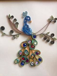 Quilled Peacock by jgaCreations on Etsy, $20.00