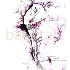 Art Print ballet art sleeping beauty dancer painting by BalletArt