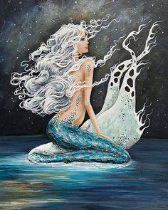 Ocean Artwork, Mermaid Wall Art, Mermaid Prints, Mermaid Paintings, Mermaid Mermaid, Vintage Mermaid, Shotting Photo, Star Ocean, Painting Prints