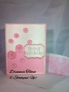 Wacky Wishes & Boho Blossom punch Stampin' Up!