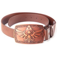 Zelda  Brown Belt with Hylian Crest Buckle Bijou Geek ae622f469
