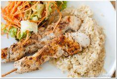 Brochette de poulet cajun et son risotto