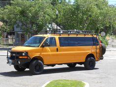 van conversions - Advanced Systems converts Nissan, GM, and Ford vans and van based vehicles to four wheel drive. Custom Camper Vans, Custom Vans, Online Cars, Gta Online, Ambulance, 4x4 Van Conversion, Van Roof Racks, Gta Cars, Chevy Express