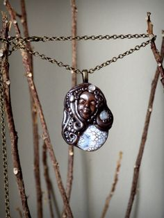 Heaven & Earth Goddess Necklace with Agate by dreamsofancientsun