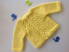 Baby sweater jacketcardiganbaby boybaby by TwoNeedlesOneMagic