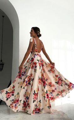 2020 Women Fashion plus size yellow floral dress floral wrap dress can – mariliy Flower Dresses, Pretty Dresses, Beautiful Dresses, Best Prom Dresses, Long Summer Dresses, Grad Dresses, Dress Summer, Best Wedding Guest Dresses, Outfit Summer