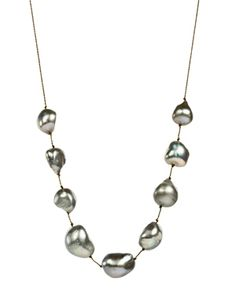 Lena Skadegard - Lena Skadegard Baroque Pearl Adjustable Cord Necklace