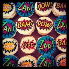 Superhero cupcakes image