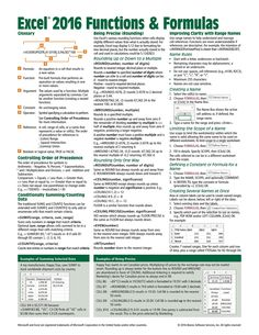 Excel 2016 for Mac Functions & Formulas Quick Reference Guide Cheat Sheet focusing on examples and context for intermediate-to-advanced functions and formulas - Laminated Guide) Computer Help, Computer Technology, Computer Science, Computer Tips, Computer Books, Business Technology, Excel Cheat Sheet, Cheat Sheets, Microsoft Excel Formulas
