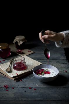 Dorina's Ruby Red Potion | Pomegranate Syrup - The Freaky Table food photography, food styling, learn food photography