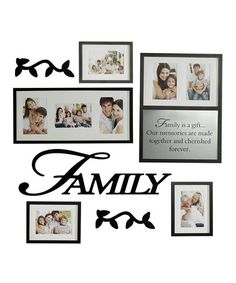 Take a look at this Black 'Family' Frame & Wall Art Set by Elements by Lifetime Brands on #zulily today!