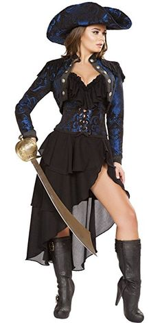 Sexy, fabulous, and fun Sexy Lady Pirate Costumes for the woman pirate. I have only selected a few of the very best Lady Pirate Costumes to feature here. Sexy Pirate Costume, Pirate Garb, Pirate Halloween Costumes, Halloween Party, Pirate Dress, Pirate Cosplay, Pirate Sword, Halloween 2016, Couple Halloween