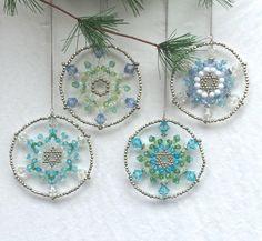 Set of 8 Assorted Christmas Star Ornaments Blue by PiurayManila