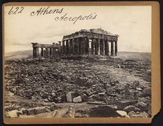 The Acropolis in Athens Greece photographed by Francis Frith (Museum of Modern Art) Parthenon Athens, Street Photography, Travel Photography, Athens Greece, Acropolis Greece, Daguerreotype, Famous Photographers, Old Stone, Ancient History