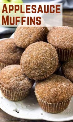 Easy Apple Muffins, Applesauce Muffins, Yogurt Muffins, Healthy Muffins, Breakfast Muffins, Apple Cinnamon Muffins, Carrot Muffins, Cranberry Muffins, Bran Muffins