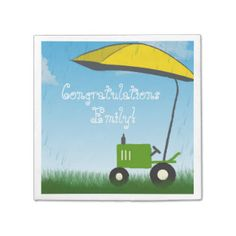 Tractor Baby Shower Napkins Disposable Napkins