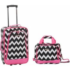 Rockland Luggage Rio 2 Piece Carry On Luggage Set, Pink Luggage Sets, Travel Luggage, Cheap Luggage, Disney Luggage, Pink Luggage, Lightweight Carry On Luggage, Rockland Luggage, Skate Wheels, Mens Gift Sets