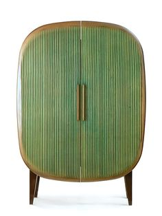 A retro table top can become a set of unique doors for a unique piece of furniture...