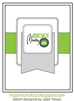Mojo Monday 414 Card Sketch #mojomonday #vervestamps #cardsketches #sketchchallenge
