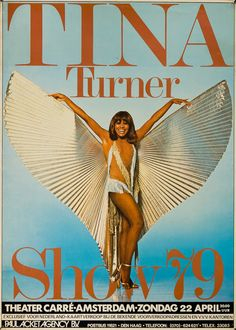 1979 Tina Turner Concert Poster (Amsterdam)