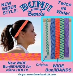 New Running Hairbands, Wide BunjiBANDS!