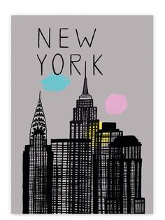 New York Poster / Human Empire (tell me when you get bored by these ny / paris posters, i try to stop it coz we've got enough but dammmmmmmmmn they keep coming !) New York Poster, Paris Poster, Abstract City, New York Art, I Love Ny, City That Never Sleeps, Willis Tower, Rannalla, Empire
