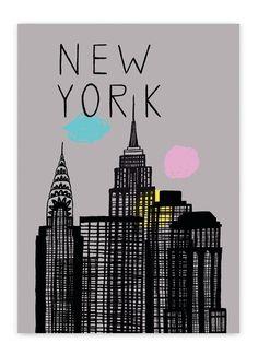 new york city skyline nyc empire state chrystler. Black Bedroom Furniture Sets. Home Design Ideas